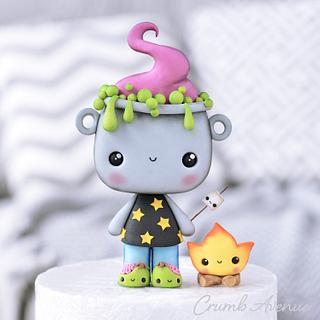Cute Halloween Cake Topper