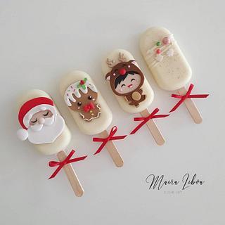 Christmas icepops - Cake by Maira Liboa
