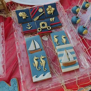 nautical theme cookies - Cake by Lefteris