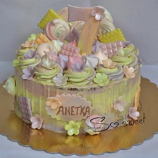 Pastel drip cake - Cake by Drahunkas