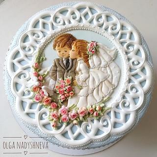 Wedding Gingerbread  box  - Cake by Olga Nadyshneva