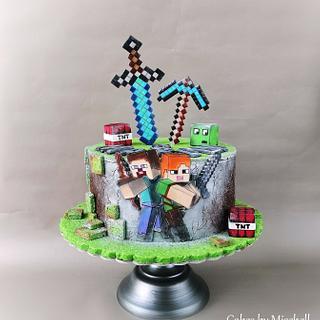Minecraft  - Cake by Mischell