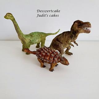 Dinosaurs modelling figure - Cake by Judit