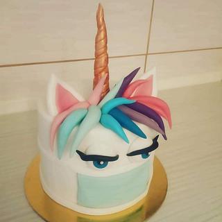 Covid unicorn cake - Cake by Tortalie