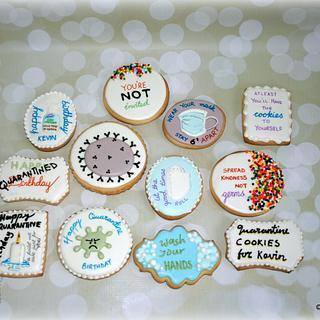 Kevin's quarantine birthday cookies