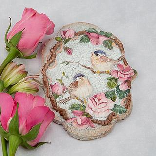 Birds and Blossoms Cookie Art Lesson 🌹🕊️🖌️