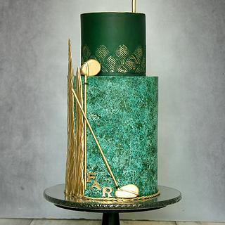 Golf theme - Cake by Lorna