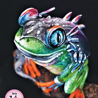 Fancy Frog Collaboration - Steel Frog - Cake by Torty Zeiko