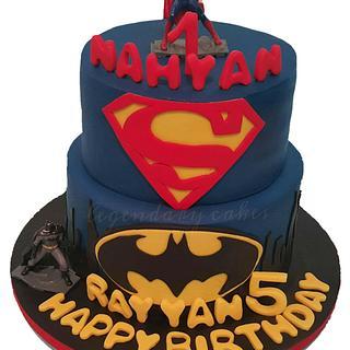 Batman superman cake🎂