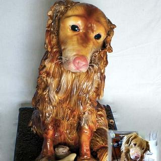 3D cake dog  - Cake by Lenkydorty