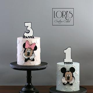 Dual Birthday cakes