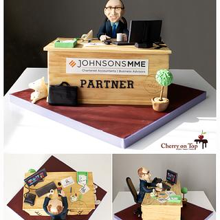 The Accountant Cake