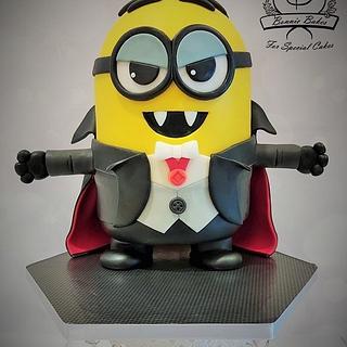 Minion Dracula Halloween cake - Cake by Bonnie Bakes UAE