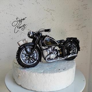 Motorcycle BMW 1938 - Cake by Tanya Shengarova