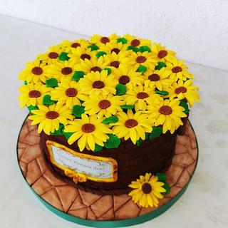 Торта слънчогледи!!!