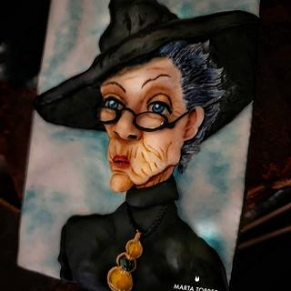 Minerva McGonagall - Harry Poter B-Day Collaboration  - Cake by The Cookie Lab  by Marta Torres