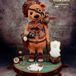 Steampunk Collaboration Teddy Bear Pirate