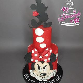 Valentinsday Cake Minnie and Mickey