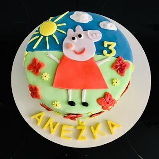 Peppa pig cake - Cake by VVDesserts
