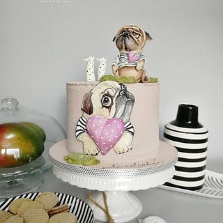 Pug - Cake by MOLI Cakes