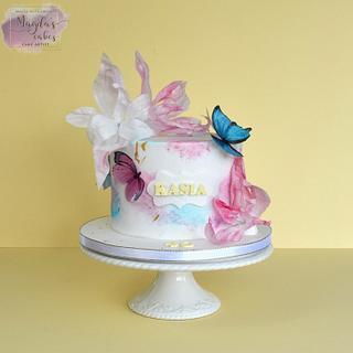 Butterflies - Cake by Magda's Cakes (Magda Pietkiewicz)