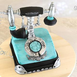 3D phone cake + video