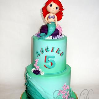 mermaid - Cake by Derika