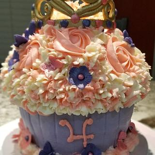 Giant Princess Cupcake Birthday Cake
