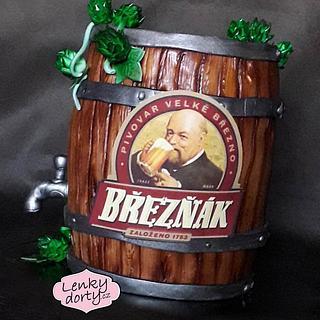 Beer keg cake - Cake by Lenkydorty