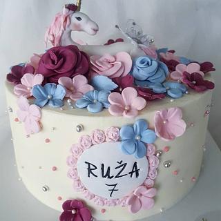 Unicorn flower cake - Cake by Sanjin slatki svijet