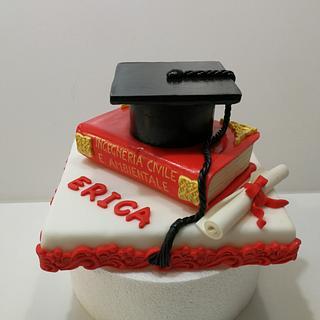 Graduation cake for Erica - Cake by Carla Poggianti Il Bianconiglio