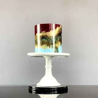 MARBLE SHINE CAKE - Cake by Le RoRo Cakes