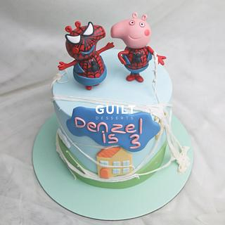Spider Peppa and George