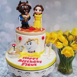 Beauty and the Beast - Cake by Rachel Roberts