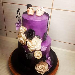 Ghotic wedding cake
