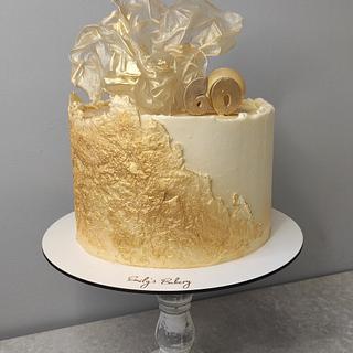 Gold Anniversary cake - Cake by Emily's Bakery