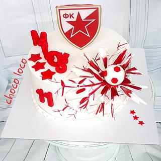 soccer cake-red star