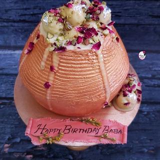 Rasmalai Handi Cake