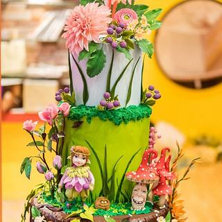 Spring Fairytale Cake  - Cake by Nana Rose Cake