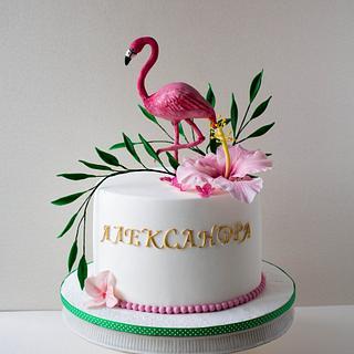 Flamingo  - Cake by Dimi's sweet art