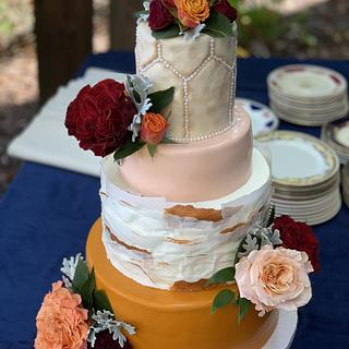Fall Wedding Cake  - Cake by Brandy-The Icing & The Cake