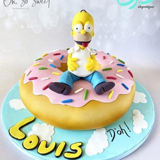 Giant Donut Homer Simpson Cake!
