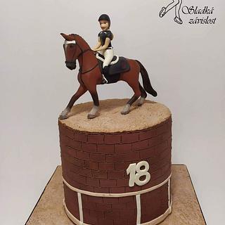 Horse with rider - Cake by Sladká závislost