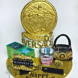 Versace Cake with sugar accessories