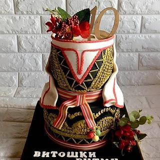 Etхno cake!Shopska costume. - Cake by Ditsan