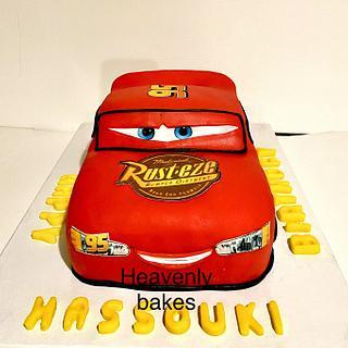 3D McQueen cake