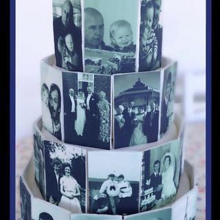70 years of memories cake