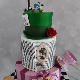 Alice in Wonderland cake - Cake by Bonnie Bakes UAE