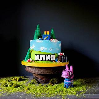 Fortnite cake - Cake by Radoslava Kirilova (Radiki's Cakes)