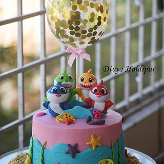 Baby shark cake  - Cake by Divya Haldipur